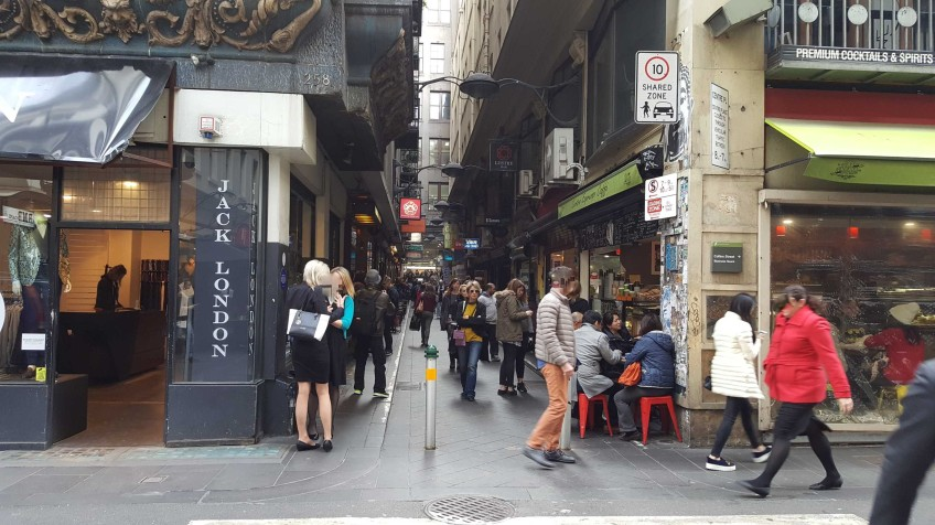 3 of 3 Opposite of the Corner of Degraves & Flinders Lane, Melbourne, Australia - Photograph taken by Karen Robinson August 2016 NB All images are protected by copyright laws