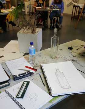 No. 4-12 Fourth 'Produce Drawings' CAE Class - Certificate 111 in Visual Arts - Photograph taken by Karen Robinson NB All images are protected by copyright laws