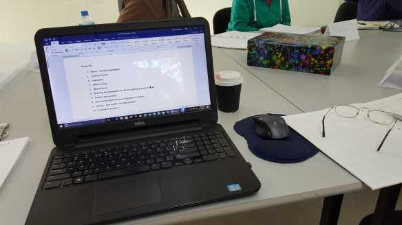 1 of 3 Creative Writing September 2016 Session Two - I'm ready to start with my creative writing session with Mind Australia and facilitated by Judy Bird. Photographed by Karen Robinson