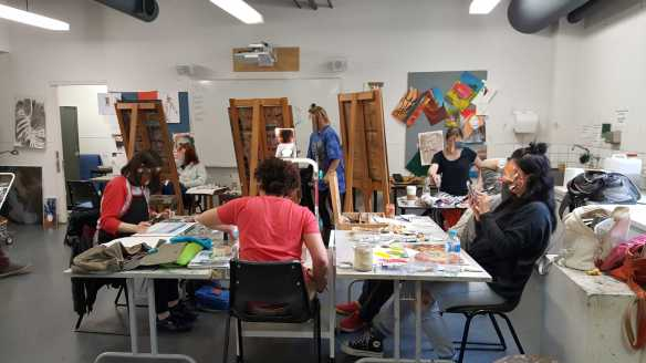12-12 Class 6 'Produce Paintings' CAE Class - Certificate 111 in Visual Arts - Photograph taken by Karen Robinson Aug 2016 NB All images are protected by copyright laws
