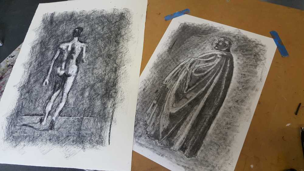 13-14 Class 6 'Produce Drawings' CAE Class - Certificate 111 in Visual Arts - Photograph by Karen Robinson Aug 2016 NB All images are protected by copyright laws