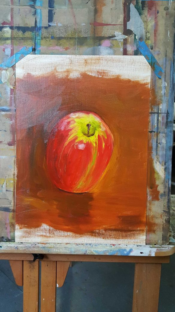 18-22 Class 8 'Produce Paintings' CAE Class - Certificate 111 in Visual Arts - Photograph taken by Karen Robinson Sept 2016 NB All images are protected by copyright laws
