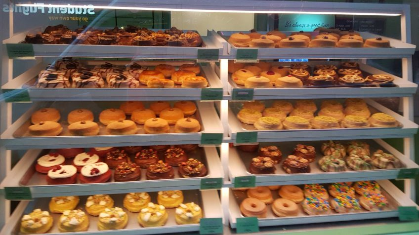 2-8 'Doughnut Time' Shop on Degraves Street, Melbourne, Australia. Photograph taken by Karen Robinson September 2016 NB All images are protected by copyright laws