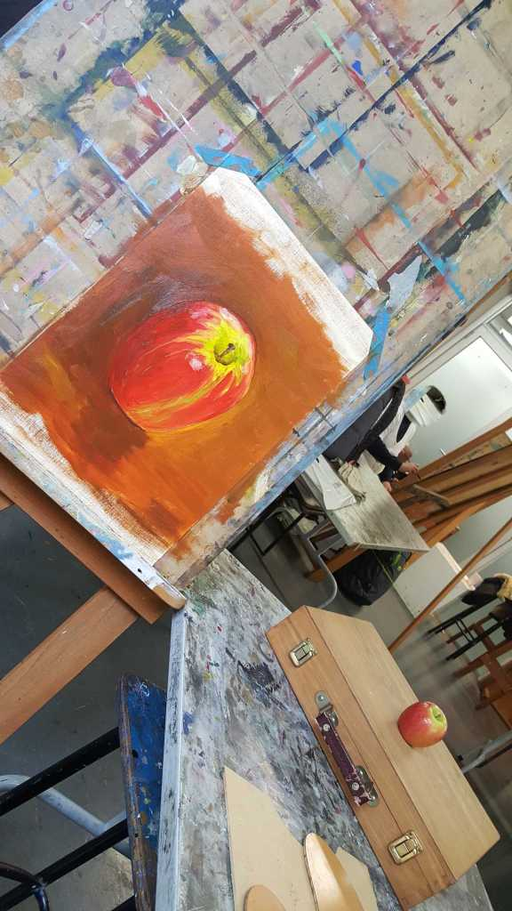 21-22 Class 8 'Produce Paintings' CAE Class - Certificate 111 in Visual Arts - Photograph taken by Karen Robinson Sept 2016 NB All images are protected by copyright laws
