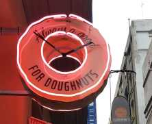 3-8 'Doughnut Time' Shop on Degraves Street, Melbourne, Australia. Photograph taken by Karen Robinson September 2016 NB All images are protected by copyright laws