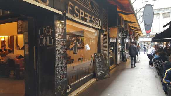 1 of 1 'Espresso' Coffee Shop on Degraves Street, Melbourne, Australia. Photograph taken by Karen Robinson October 2016 NB All images are protected by copyright laws