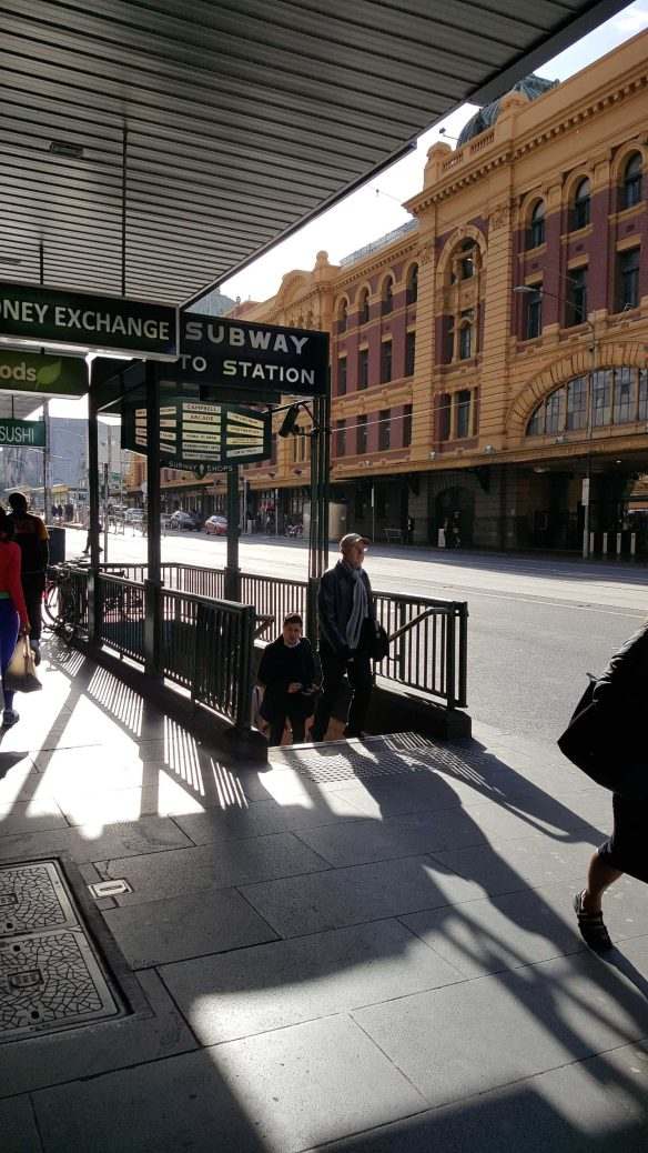 1 of 8 Flinders Street at Degraves Subway Entrance, Melbourne, Australia - Photograph taken by Karen Robinson Oct 2016 NB All images are protected by copyright