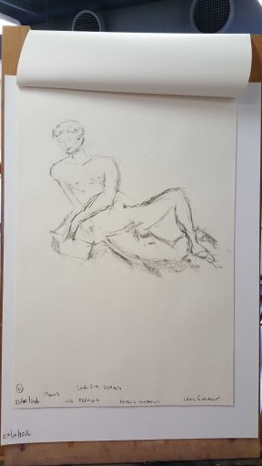 12 of 15 Class 12 'Produce Drawings' CAE Class - Certificate 111 in Visual Arts - Life Drawing & Photograph by Karen Robinson Oct 2016 NB images protected by copyright laws
