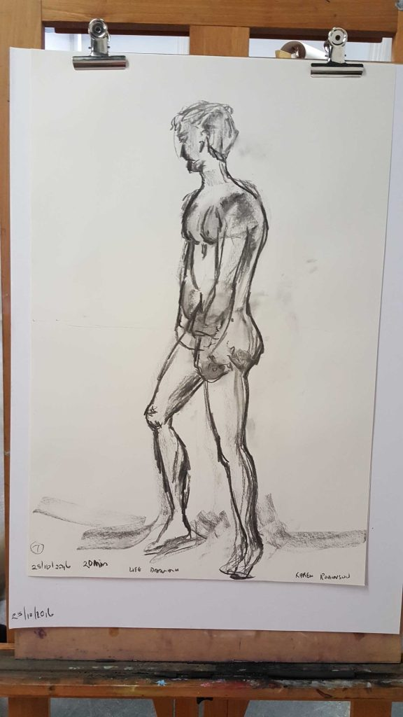 15 of 15 Class 12 'Produce Drawings' CAE Class - Certificate 111 in Visual Arts - Life Drawing & Photograph by Karen Robinson Oct 2016 NB images protected by copyright laws