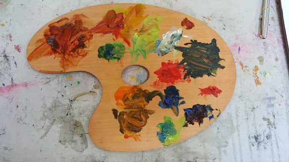 17 of 18 Class 12 'Produce Paintings' CAE Class - Certificate 111 in Visual Arts - Photograph & Painting by Karen Robinson Oct 2016 NB All images are protected by copyright