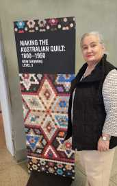 2 'Making the Australian Quilt' at the Ian Poter Centre - NGV Australia photographed by Karen Robinson's husband - August 2016 NB All images are protected by copyright laws