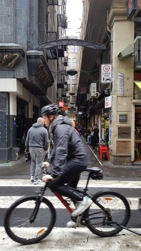 2 of 3 Corner of Degreaves & Flinders Lane, looking towards Centre Places, Melbourne, Australia - Photograph taken by Karen Robinson Oct 2016 NB All images are protected by copyright laws