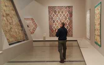 4 Mark Robinson at 'Making the Australian Quilt' at the Ian Poter Centre - NGV Australia - Photographed by Karen Robinson- August 2016 NB All images are protected by copyright laws