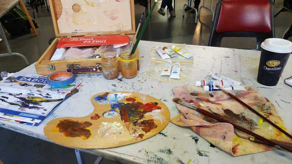 4 of 14 Class 10 'Produce Paintings' CAE Class - Certificate 111 in Visual Arts - Photograph & Painting by Karen Robinson Oct 2016 NB All images are protected by copyright laws