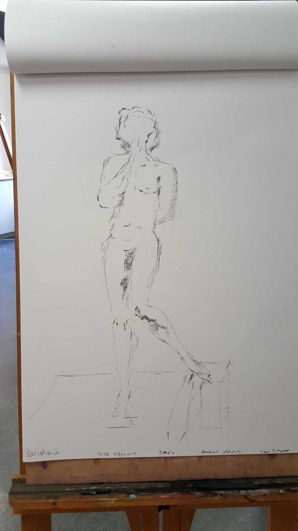 5 of 15 Class 12 'Produce Drawings' CAE Class - Certificate 111 in Visual Arts - Life Drawing & Photograph by Karen Robinson Oct 2016 NB images protected by copyright laws