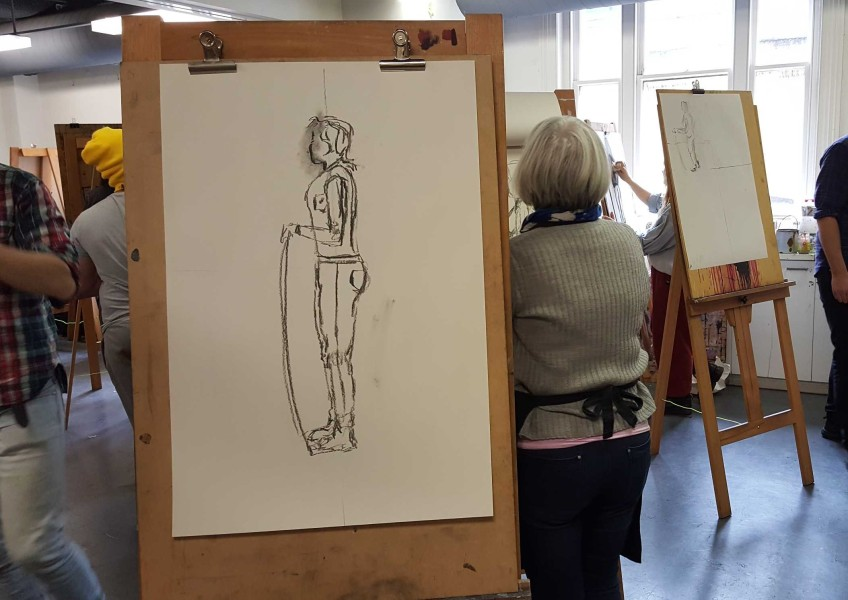 7-22 Class 9 'Produce Drawings' CAE Class - Certificate 111 in Visual Arts - Photograph by Karen Robinson Oct 2016 NB images protected by copyright laws