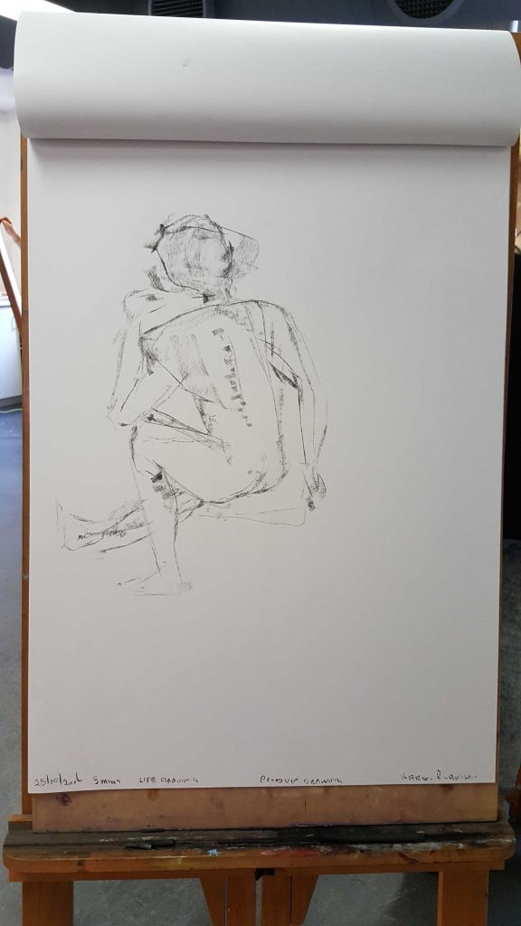 7 of 15 Class 12 'Produce Drawings' CAE Class - Certificate 111 in Visual Arts - Life Drawing & Photograph by Karen Robinson Oct 2016 NB images protected by copyright laws