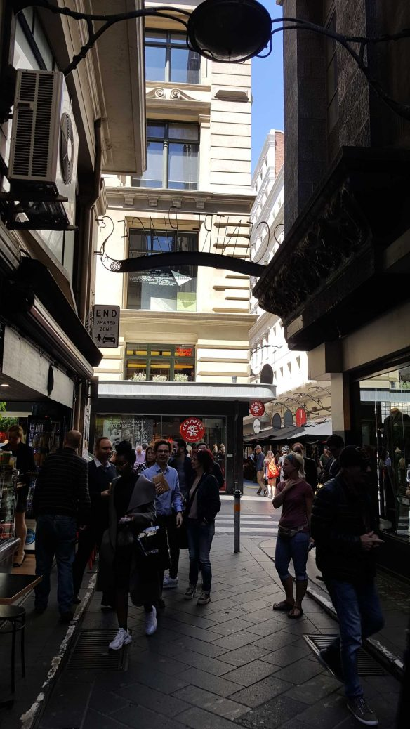 7 of 8 Looking down Centre Places towards Flinders Lane, Melbourne, Australia - Photograph taken by Karen Robinson Oct 2016 NB All images are protected by copyright