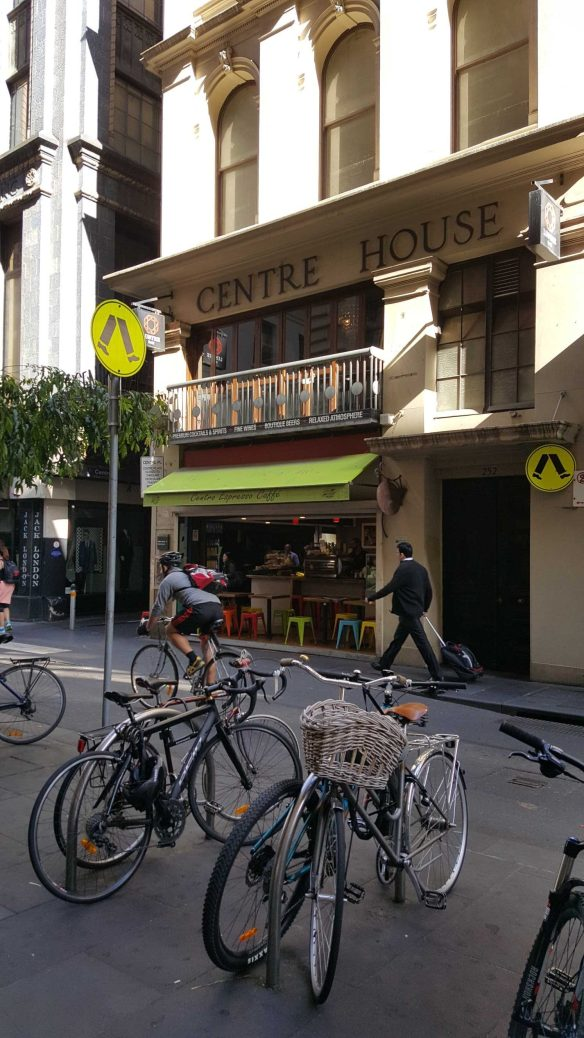 10 of 10 Looking up Centre Places from Flinders Lane, Melbourne, Australia - Photograph taken by Karen Robinson Nov 2016 NB All images are protected by copyright laws