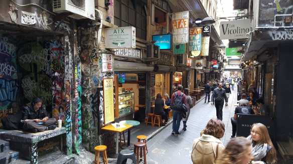 10 of 16 Corner Degraves & Flinders Lane, Melbourne, Australia - Photograph taken by Karen Robinson Nov 2016 NB All images are protected by copyright