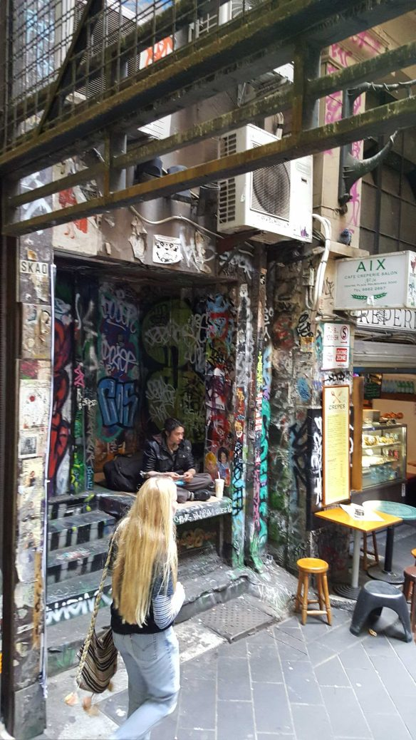 12 of 16 Corner Degraves & Flinders Lane, Melbourne, Australia - Photograph taken by Karen Robinson Nov 2016 NB All images are protected by copyright