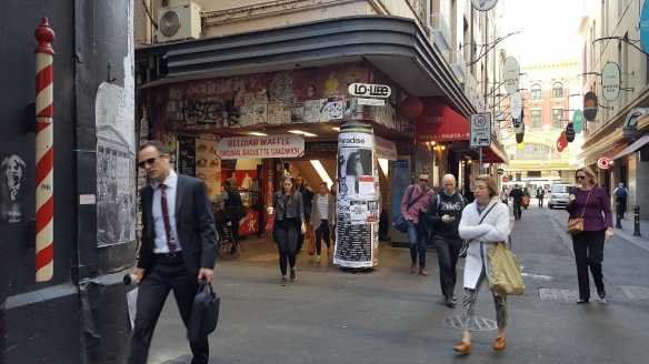 8 of 10 Near corner of Centre Places and Flinders Lane,, Australia - Photograph taken by Karen Robinson Oct 2016 NB All images are protected by copyright laws