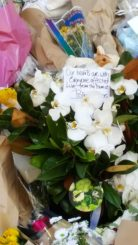 Melbourne, Victoria - Australia- 'Floral tributes at the Bourke Street Mall' photographed by Karen Robinson_www.idoartkarenrobinso.com_2201700420170125 NB: All images are protected by copyright laws