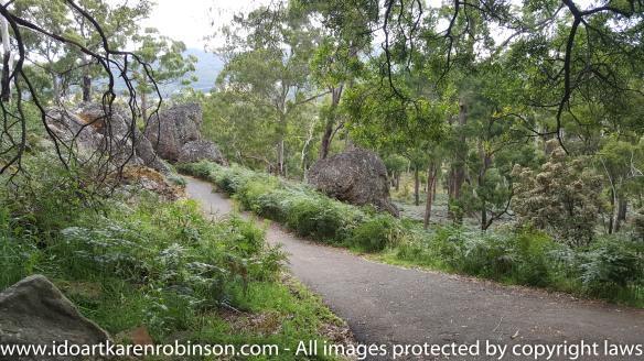 Karen took photos around and on Hanging Rock. Accompanied by her husband on the day. Wonderful rock formations, natural Australian bush, native life and expansive scenic views from the top of Hanging Rock itself. NB: All images are protected by copyright laws.