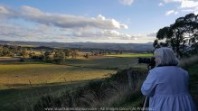 """Daylesford Region, Victoria - Australia """"View from Mount Franklin""""_ Series of Images photographed by ©Karen Robinson www.idoartkarenrobinson.com June 2017. Comments: Husband and I visiting the region to take photographs on this beautiful, fresh winter's day. On our way back down from Mount Franklin, my husband kindly took a photograph of me on my Samsung Galaxy 6 mobile phone. The lighting was just perfect and I had to stop to capture the beauty of this glorious view on my Sony A7II Camera using a my Sony FE24-240mm F3.5-6.3 OSS Lense."""