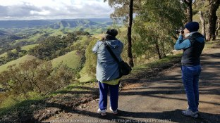 Strath Creek Region, Victoria - Australia 'Valley of a Thousand Hills' Photographed by ©Karen Robinson www.idoartkarenrobinson.com May 2017 Comments: Day photographing with my daughter and husband who kindly drove us location to location. This particular photo was taken by my husband on my Samsung Galaxy 6 Mobile Phone so we could get a GPS reading. It features myself to the left and my daughter to the right. NB: All images are protected by Copyright Laws