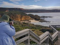 The Great Ocean Road, Victoria - Australia_Photographed by Karen Robinson August, 2017 Comments: My husband and I decided to take a car drive one Sunday, along part of this iconic road which features some of the most stunning beaches and ocean views. It was a beautiful winter's day with the sun shining it's best; interesting skies and long sandy beaches - a visual feast! The fresh, softly blowing sea air filled our ageing lungs; the whole experience rejuvenating our souls www.idoartkarenrobinson.com. NB: This particular photo was taken by my husband using my Galaxy Samsung 6 Mobile Phone at Point Addis which is half way between Torquay and Anglesea.