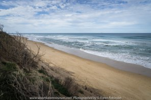 The Great Ocean Road, Victoria - Australia_Photographed by Karen Robinson August, 2017 Comments: My husband and I decided to take a car drive one Sunday, along part of this iconic road which features some of the most stunning beaches and ocean views. It was a beautiful winter's day with the sun shining it's best; interesting skies and long sandy beaches - a visual feast! The fresh, softly blowing sea air filled our ageing lungs; the whole experience rejuvenating our souls www.idoartkarenrobinson.com