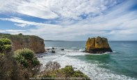 The Great Ocean Road, Victoria - Australia_Photographed by Karen Robinson August, 2017 Comments: My husband and I decided to take a car drive one Sunday, along part of this iconic road which features some of the most stunning beaches and ocean views. It was a beautiful winter's day with the sun shining it's best; interesting skies and long sandy beaches - a visual feast! The fresh, softly blowing sea air filled our ageing lungs; the whole experience rejuvenating our soul. www.idoartkarenrobinson.com