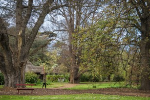 """Elsternwick, Victoria - Australia_Photographed by ©Karen Robinson_ www.idoartkarenrobinson.com September 10, 2017 Comments: My hubby and I with the Craigieburn Camera Club at Rippon Lea House and Gardens. """"It is one of Australia's finest grand suburban estates and the first to achieve National Heritage Listing, recognising its unique significance. The historic mansion is located within a vast pleasure garden of sweeping lawns that cover more than 14 acres and features a windmill, lookout tower, heritage orchard, lake, waterfall, fernery and more!"""" Photograph featuring garden looking over lake."""