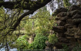 """Elsternwick, Victoria - Australia_Photographed by ©Karen Robinson_ www.idoartkarenrobinson.com September 10, 2017 Comments: My hubby and I with the Craigieburn Camera Club at Rippon Lea House and Gardens. """"It is one of Australia's finest grand suburban estates and the first to achieve National Heritage Listing, recognising its unique significance. The historic mansion is located within a vast pleasure garden of sweeping lawns that cover more than 14 acres and features a windmill, lookout tower, heritage orchard, lake, waterfall, fernery and more!"""" Photograph featuring lake view and rock wall."""