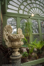 """Elsternwick, Victoria - Australia_Photographed by ©Karen Robinson_ www.idoartkarenrobinson.com September 10, 2017 Comments: My hubby and I with the Craigieburn Camera Club at Rippon Lea House and Gardens. """"It is one of Australia's finest grand suburban estates and the first to achieve National Heritage Listing, recognising its unique significance. The historic mansion is located within a vast pleasure garden of sweeping lawns that cover more than 14 acres and features a windmill, lookout tower, heritage orchard, lake, waterfall, fernery and more!"""" Photograph featuring magnificent statue within the Conservatory."""