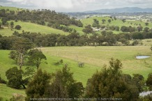 Yan Yean Region, Victoria - Australia_Photographed by ©Karen Robinson www.idoartkarenrobinson.com 2017 Aug 27 Comments: Chilly Winter's day on Ridge Road looking south across the farming region of Yan Yean towards Arthurs Creek.