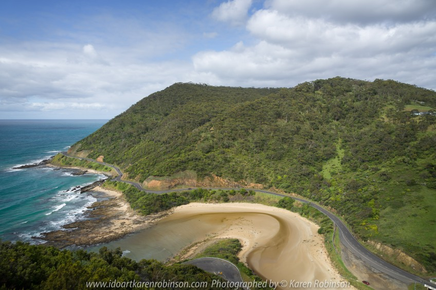 The Great Ocean Road Region, Victoria - Australia_Photographed by Karen Robinson November 2017 www.idoartkarenrobinson.com Comments: My Hubby and I joined a group of enthusiastic Craigieburn Camera Club Photographers on a Three-Day Trip along the Great Ocean Road and Regional areas - to take photographs of wide oceans, sunrises, sunsets, significant coastal landmarks, waterfalls, wildlife and rural bushlands. Featuring views at Teddy's Outlook at Lorne.