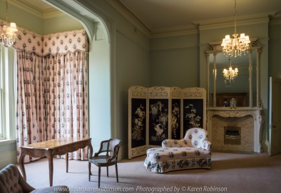 """Elsternwick, Victoria - Australia_Photographed by ©Karen Robinson_ www.idoartkarenrobinson.com_September 10, 2017 Comments: My hubby and I with the Craigieburn Camera Club at Rippon Lea House and Gardens. """"It is one of Australia's finest grand suburban estates and the first to achieve National Heritage Listing, recognising its unique significance. The historic mansion is located within a vast pleasure garden of sweeping lawns that cover more than 14 acres and features a windmill, lookout tower, heritage orchard, lake, waterfall, fernery and more!"""" Photograph featuring room within Mansion."""