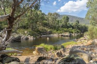 Omeo, Victoria - Australia 'Bundara and Mitta Mitta Rivers Junction' Photographed by ©Karen Robinson_www.idoartkarenrobinson.com April - 2017. Comments: Fishing and sightseeing with husband and his brother and my daughter where two rivers met.