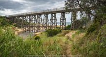 Kilcunda, Victoria - Australia 'Bass Coast' Photographs by Karen Robinson Feb 2018 NB All images are protected by copyright laws Comments. A grey, cloudy day visiting Kilcunda taking photographs looking out across the Bass Coast Ocean and an opportunity to sight the Kilcunda Trestle Bridge that stretches over Bourne Creek.