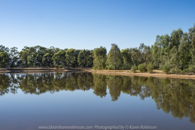 Euroa, Victoria - Australia 'Mount Wombat Lookout Region' Photographed by Karen Robinson March 2018 NB. All images are protected by copyright laws. Comments - Hubby and I travelled up to the lookout to photograph the sunrise which included amazing views looking out from around the towers. Also managed to capture some lovely photographs on our way back home during the morning daylight. Photograph features small lake off Euroa Main Road, Euroa.