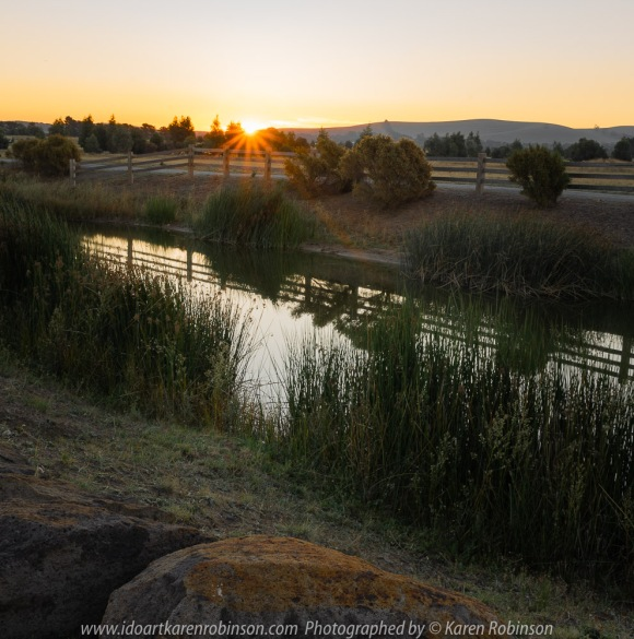 Beveridge, Victoria - Australia 'View from Golf Course' Photographed by Karen Robinson April 2018 Comments: Sunset looking away from Golf Course towards Mountain Range