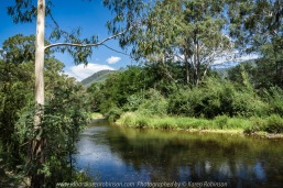 Cheshunt, Victoria - Australia 'King River near Hamiltons Bridge' Photographed by Karen Robinson Jan 2018 NB. All images are protected by copyright laws. Comments: A beautiful summer's day around this region taking in the sights of the King River and surrounds Vineyards.