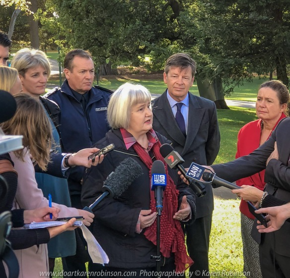 Melbourne, Victoria - Australia 'Treasury Gardens - TAC Launch of New Drink Driving and Drug Laws' Karen Robinson at Launch with TAC, VicRoads, Victoria Police, Road Trauma Support Services Victoria and the Minister for Roads and Road Safety - Luke Donnellan.