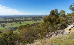 Faraday, Victoria - Australia 'Mount Alexander Regional Park' Photographed by Karen Robinson NB. All images are copyright protected. Comments - On the Mountain, just off Joseph Young Drive we found a little track leading up to an old large-scale quarrying of granite site. Here we also experienced viewing expanse looking out towards Harcourt.