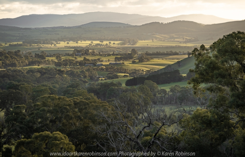 Wallan, Victoria - Australia 'Farmland' Photographed by Karen Robinson July 2018 NB. All images are copyright protected Comments - Farmland Views late afternoon on a winter's day