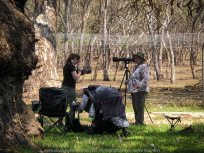 Greenvale, Victoria - Australia 'Day Trip at Woodlands Historic Park' Photographs from Karen Robinson November 2018 Comments - A photography adventure with daughter Kelly, her daughter baby Maddie (our grand-daughter) and hubby Mark. Photograph featuring daughter on the left and Karen on the right getting ready to take photographs.