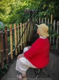 Parkville, Victoria - Australia 'Melbourne Zoo Trip 5' Photographed by Karen Robinson January 2019 Comments - Hubby and I decided to spend another day at the Zoo, this time concentrating on photographing the Western Lowland Gorillas. Photograph featuring Karen Robinson waiting for the Gorillas to come into sight.
