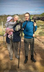 Werribee South, Victoria - Australia 'Werribee River K Road' Photograph by Karen Robinson February 2019 Comments - A morning out with hubby and me with granddaughter and daughter photographing rare sighting of an Eastern Osprey water bird. Photograph featuring Karen Robinson holding granddaughter standing next to daughter.